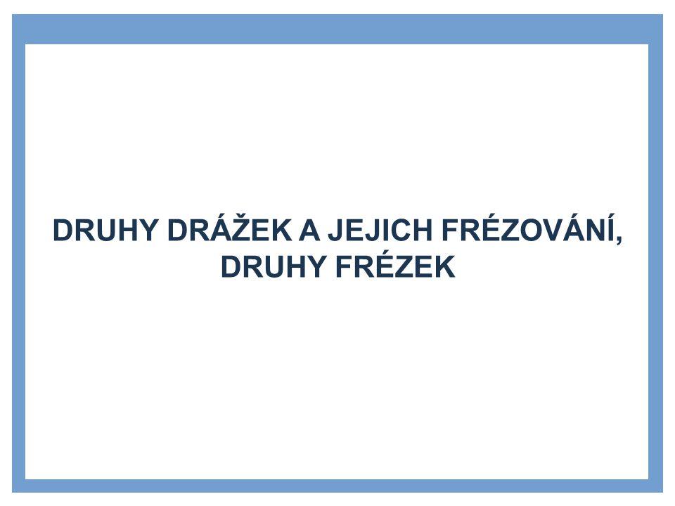 Druhy drážek a jejich frézování, druhy frézek