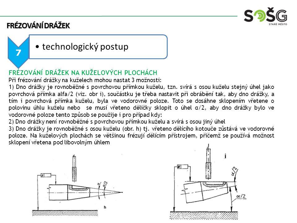 technologický postup Frézování drážek 7