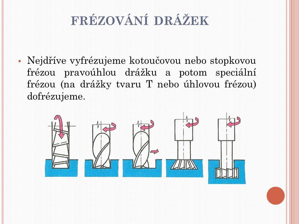frézování drážek