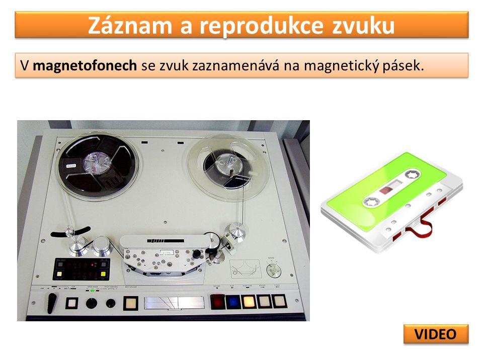 Záznam a reprodukce zvuku