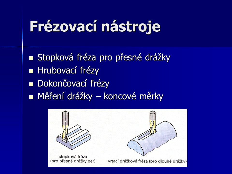 Frézovací nástroje Stopková fréza pro přesné drážky Hrubovací frézy