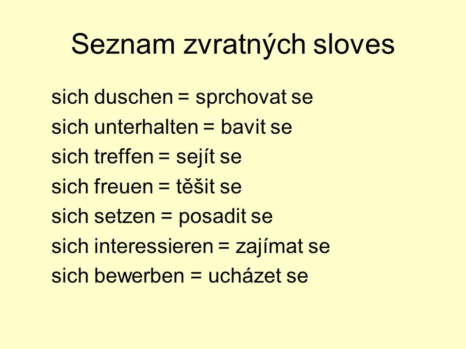 Seznam zvratných sloves