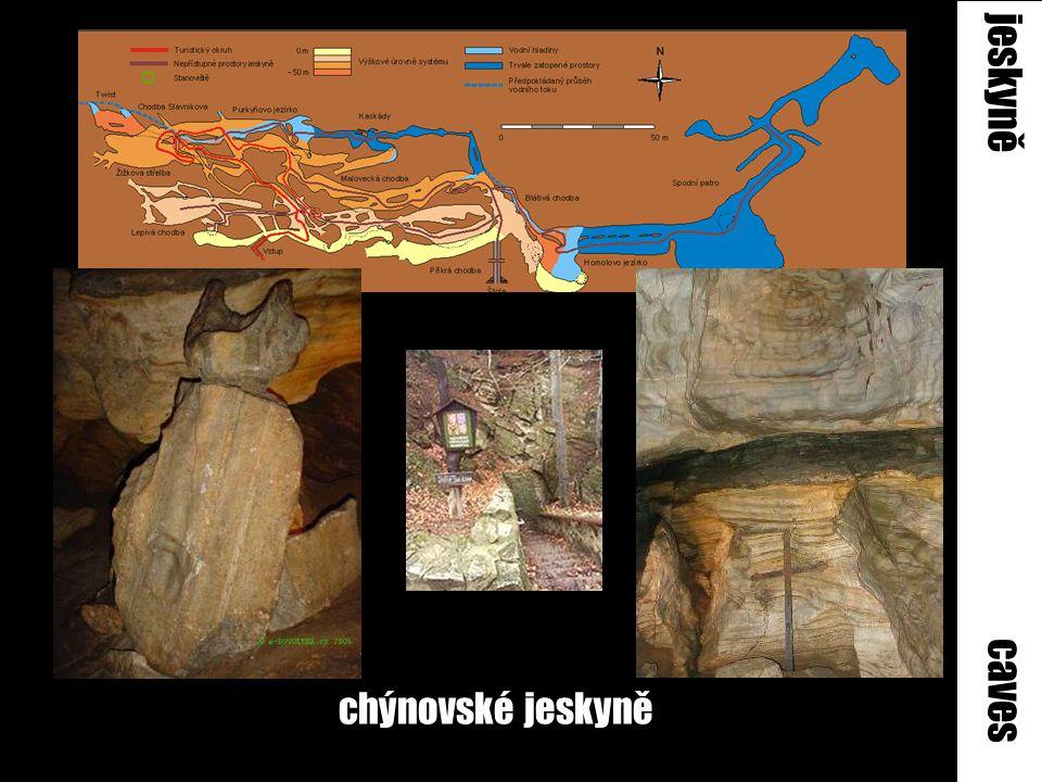 jeskyně caves chýnovské jeskyně
