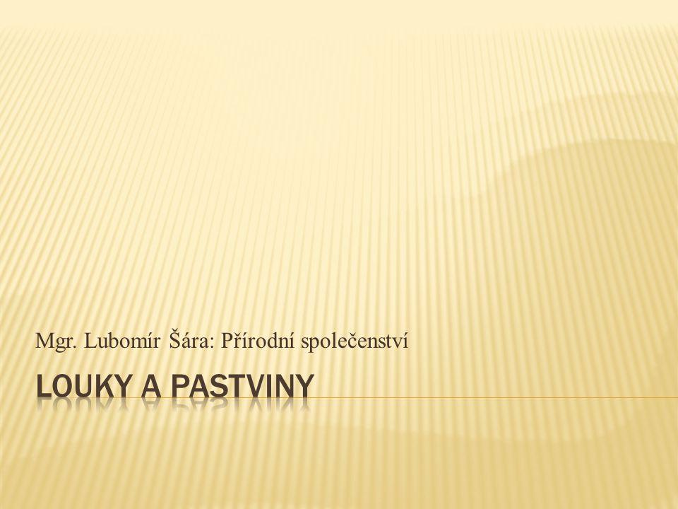 Mgr. Lubomír Šára: Přírodní společenství