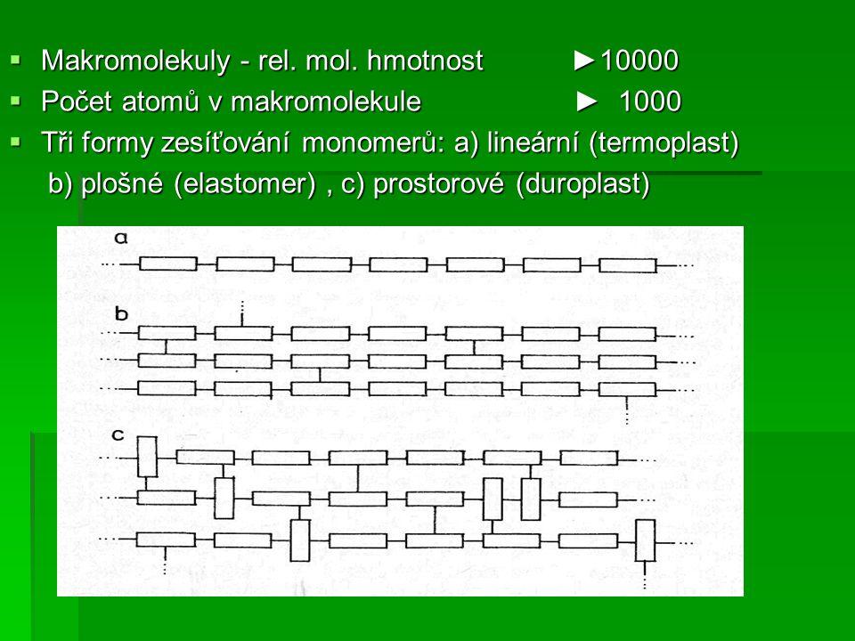 Makromolekuly - rel. mol. hmotnost ►10000