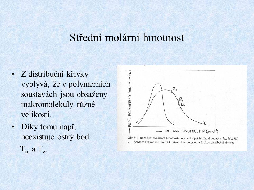 Střední molární hmotnost