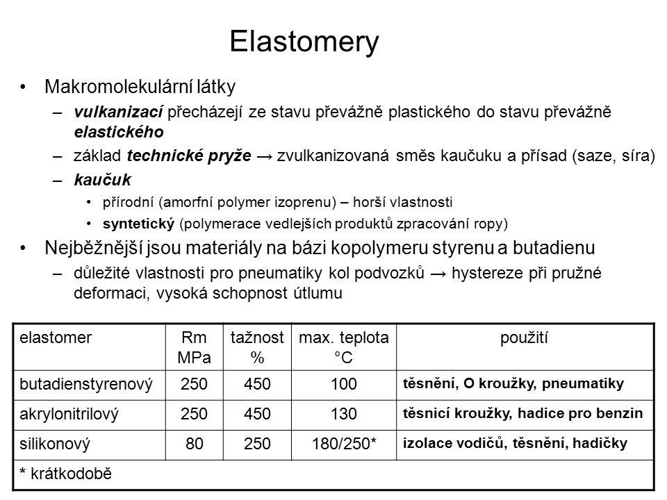 Elastomery Makromolekulární látky