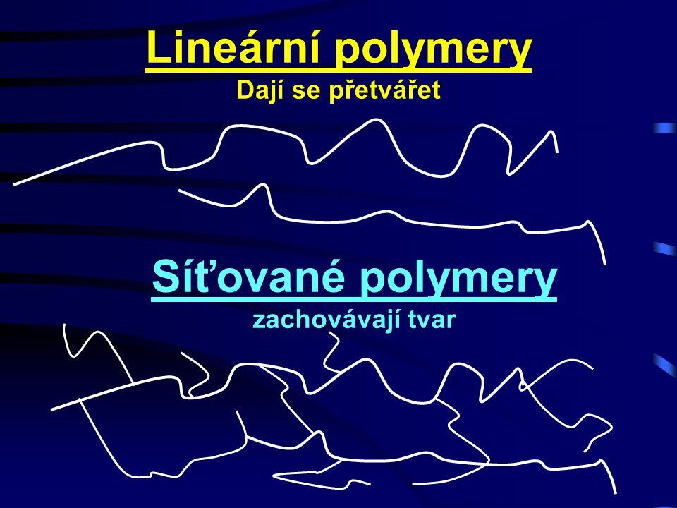 Síťované polymery zachovávají tvar