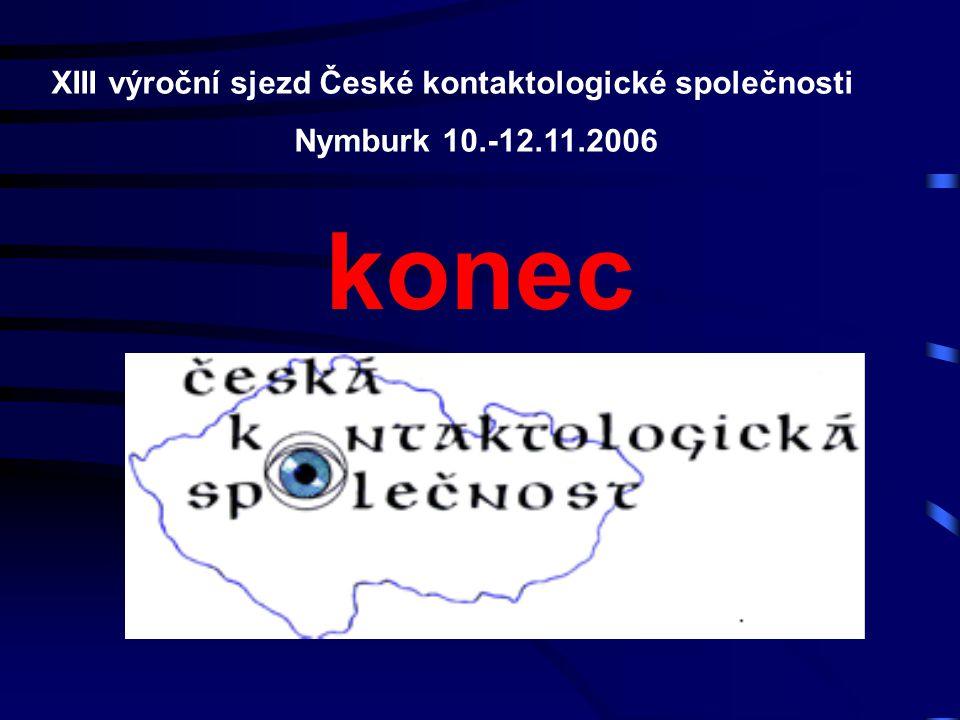 konec XIII výroční sjezd České kontaktologické společnosti