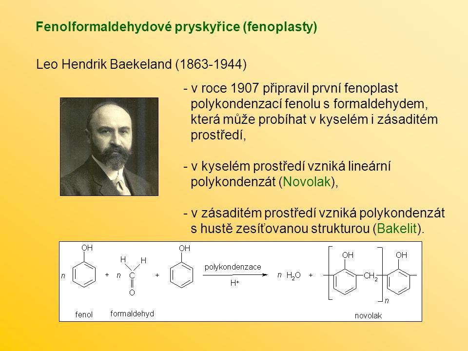 Fenolformaldehydové pryskyřice (fenoplasty)