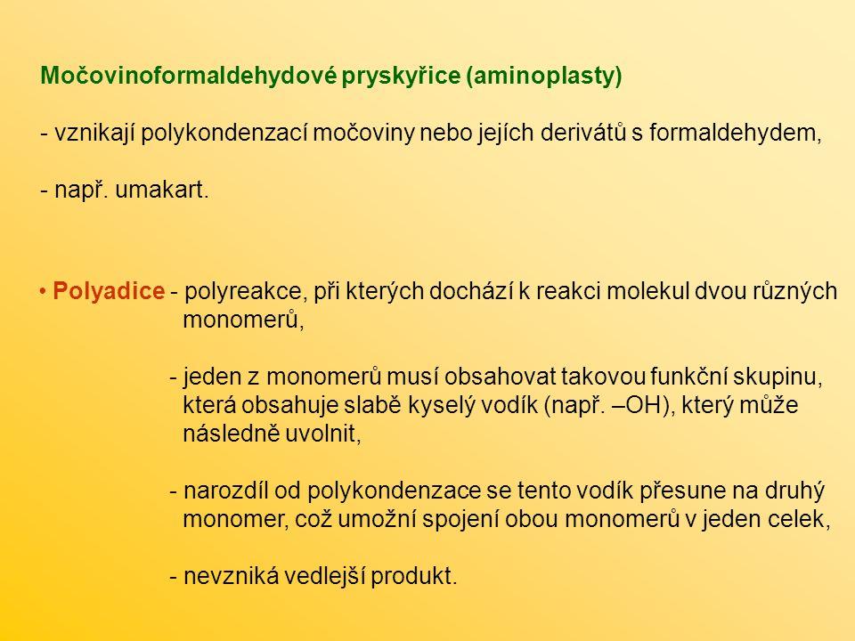 Močovinoformaldehydové pryskyřice (aminoplasty)