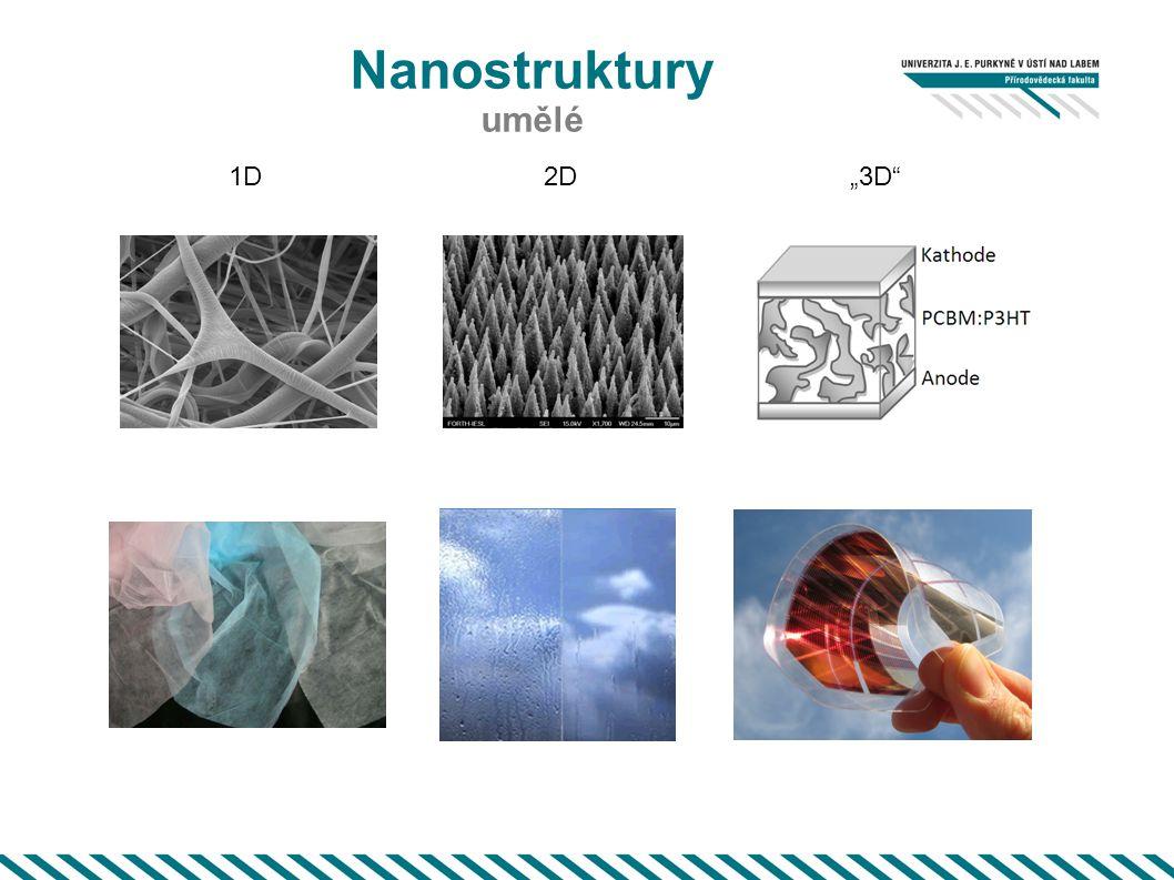 "Nanostruktury umělé 1D 2D ""3D"
