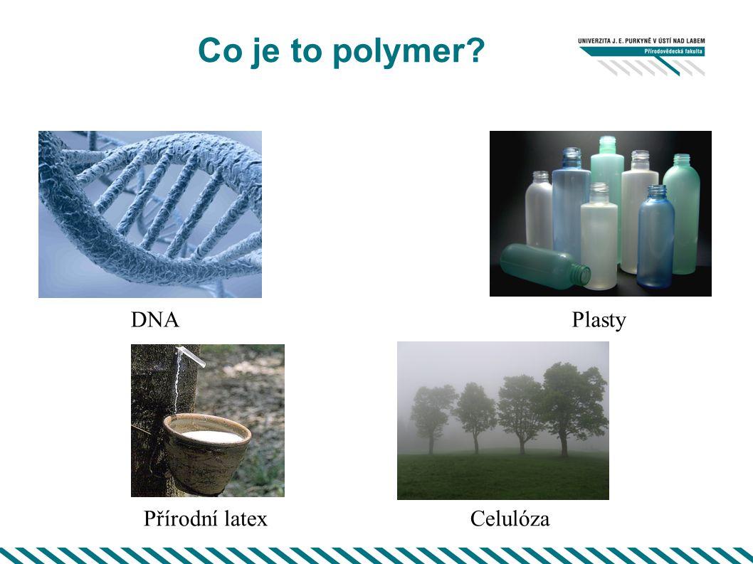 Co je to polymer DNA Plasty Přírodní latex Celulóza