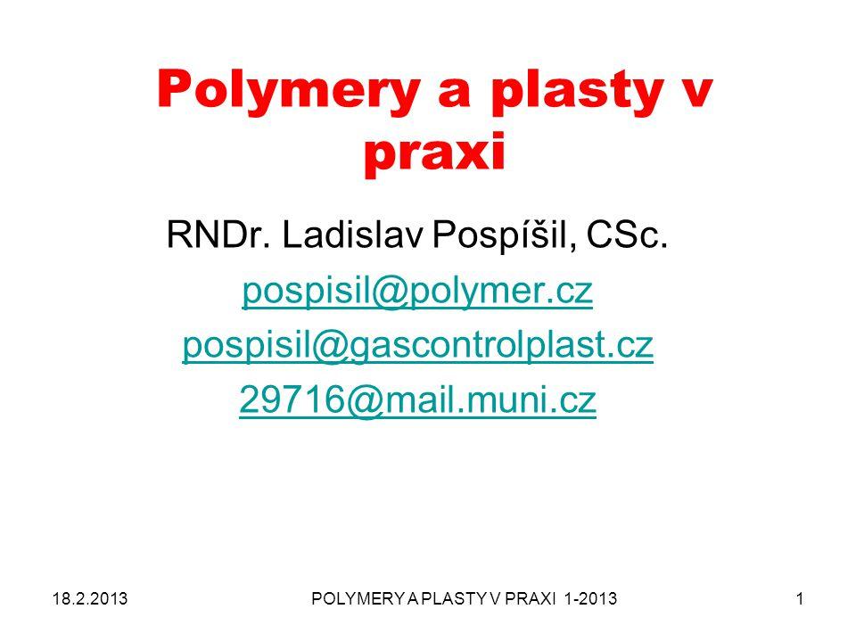 Polymery a plasty v praxi