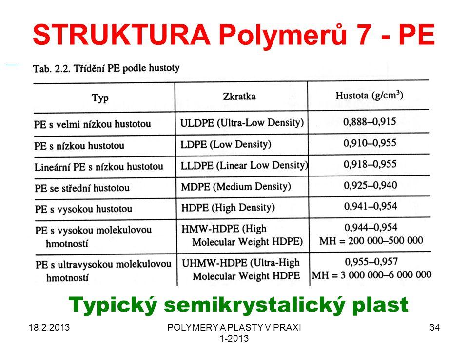 STRUKTURA Polymerů 7 - PE