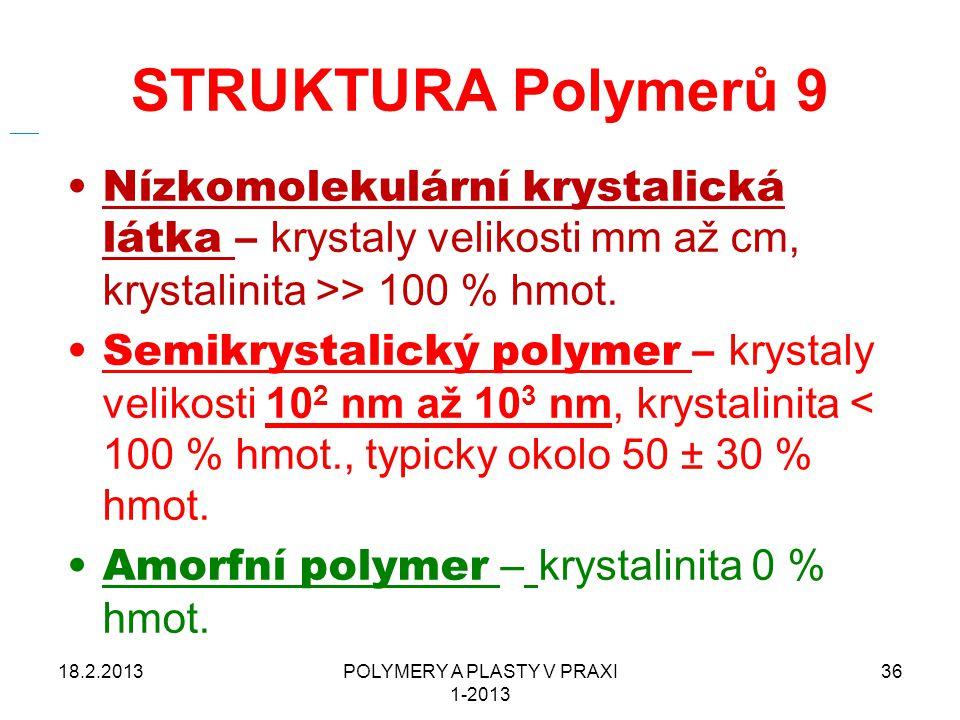 POLYMERY A PLASTY V PRAXI 1-2013
