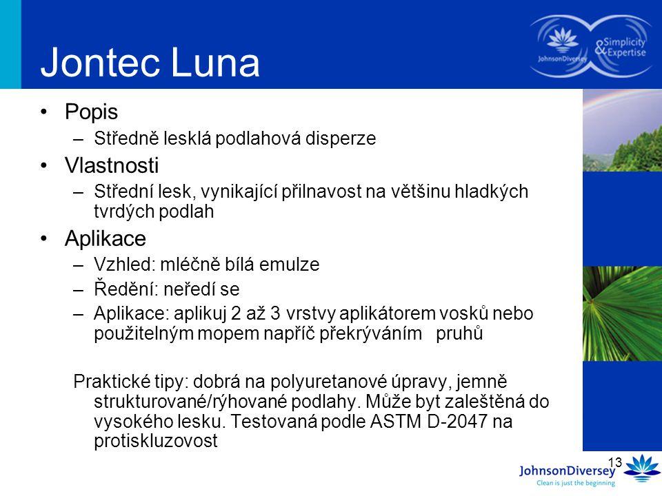 Jontec Luna Popis Vlastnosti Aplikace