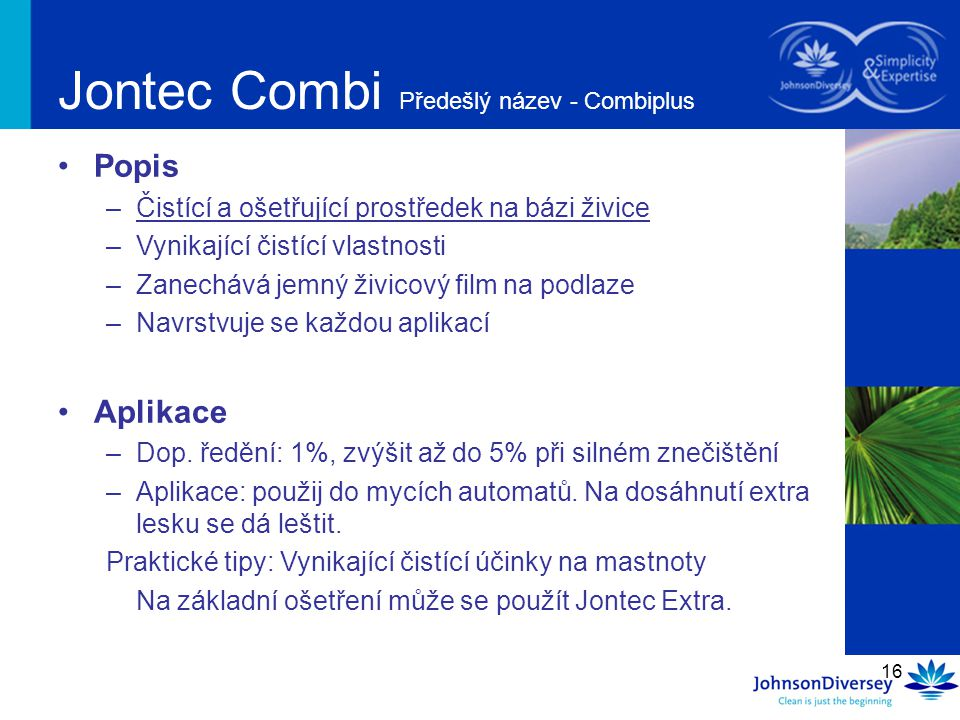 Jontec Combi Předešlý název - Combiplus