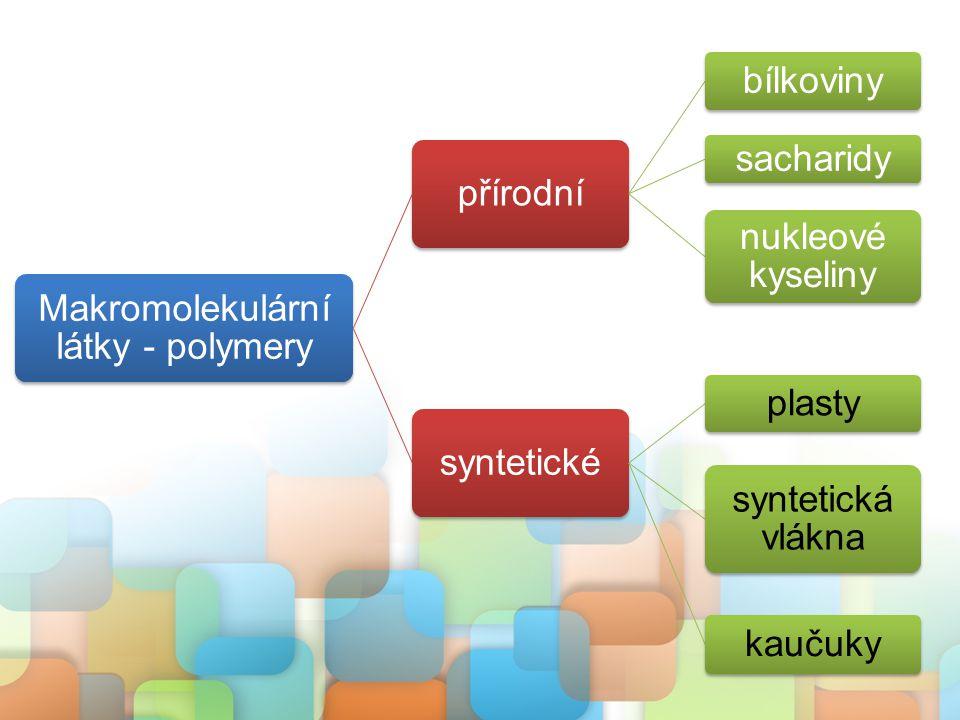 Makromolekulární látky - polymery