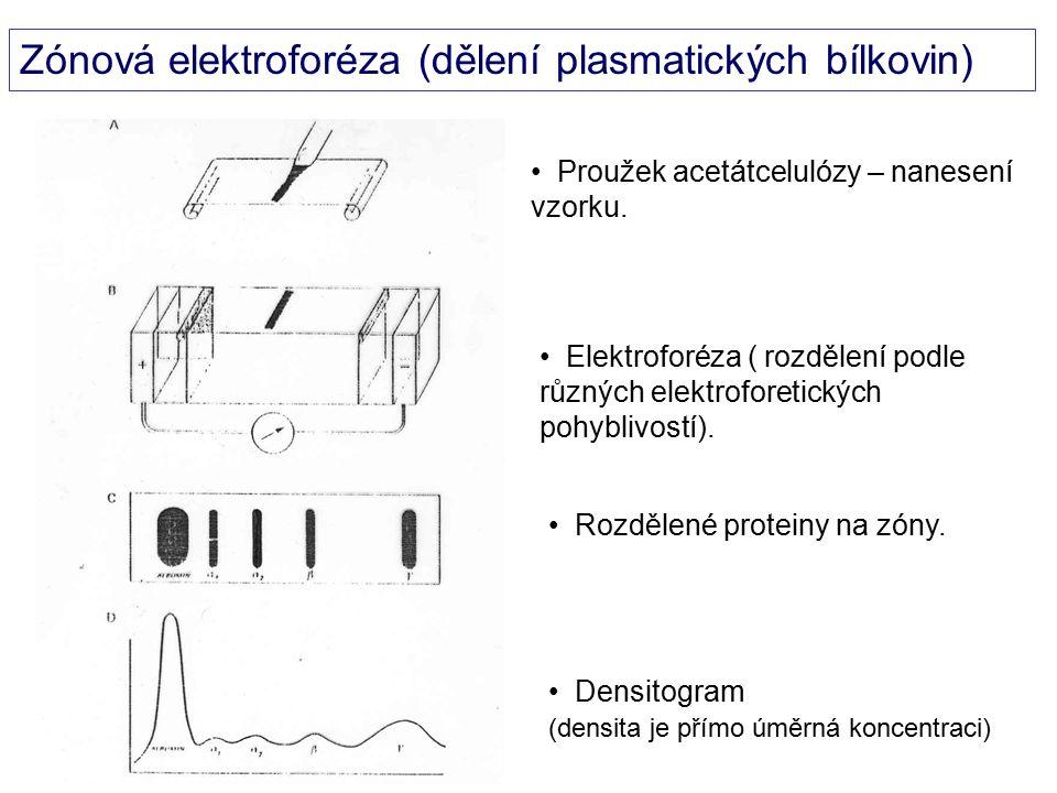 Zónová elektroforéza (dělení plasmatických bílkovin)