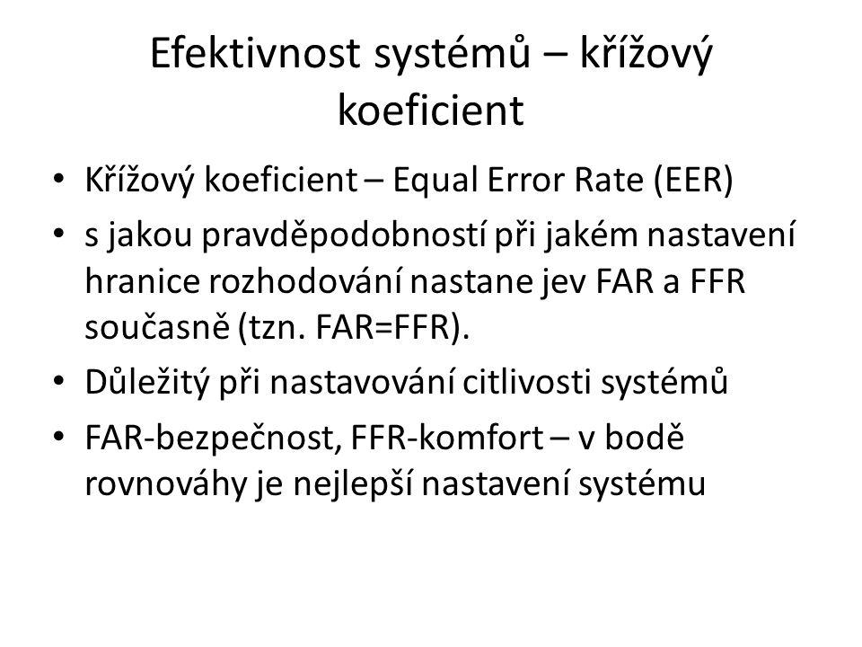 Efektivnost systémů – křížový koeficient