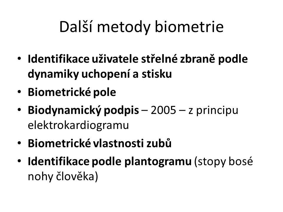 Další metody biometrie