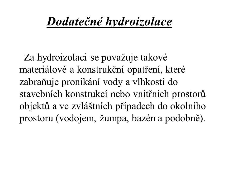 Dodatečné hydroizolace