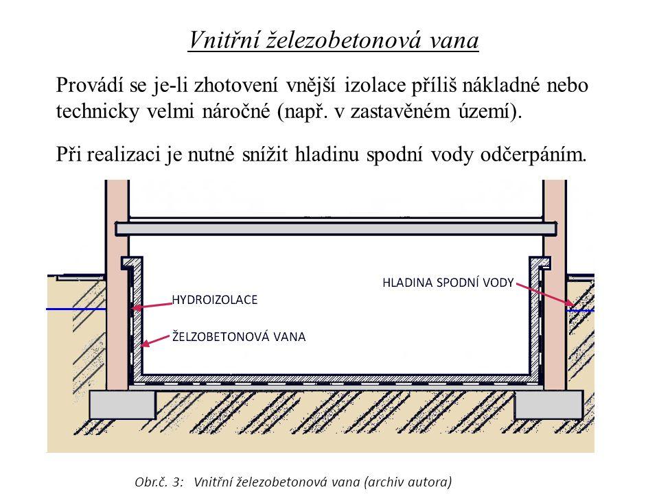 Vnitřní železobetonová vana