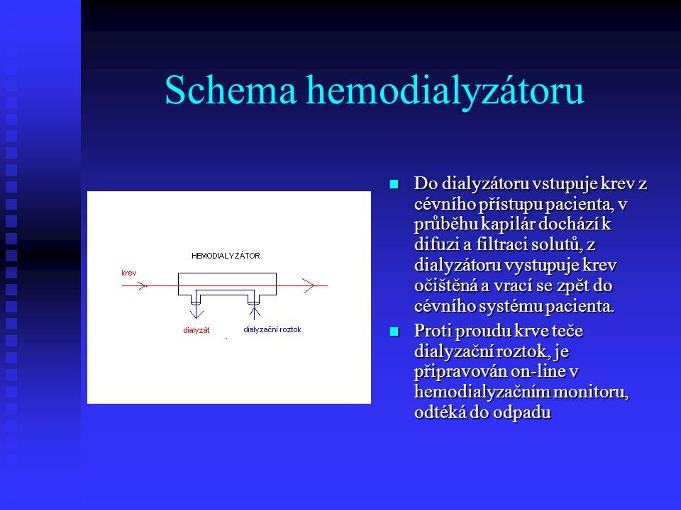 Schema hemodialyzátoru