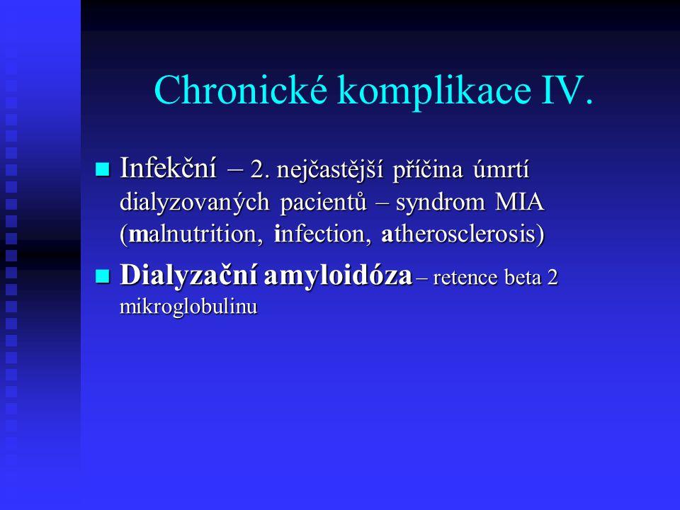 Chronické komplikace IV.
