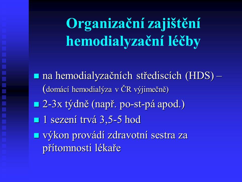 Organizační zajištění hemodialyzační léčby