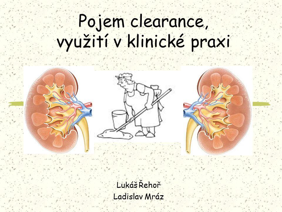 Pojem clearance, využití v klinické praxi