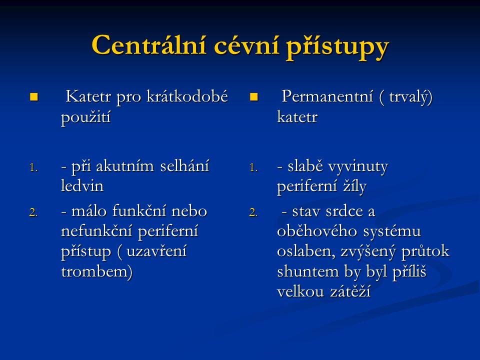 Centrální cévní přístupy