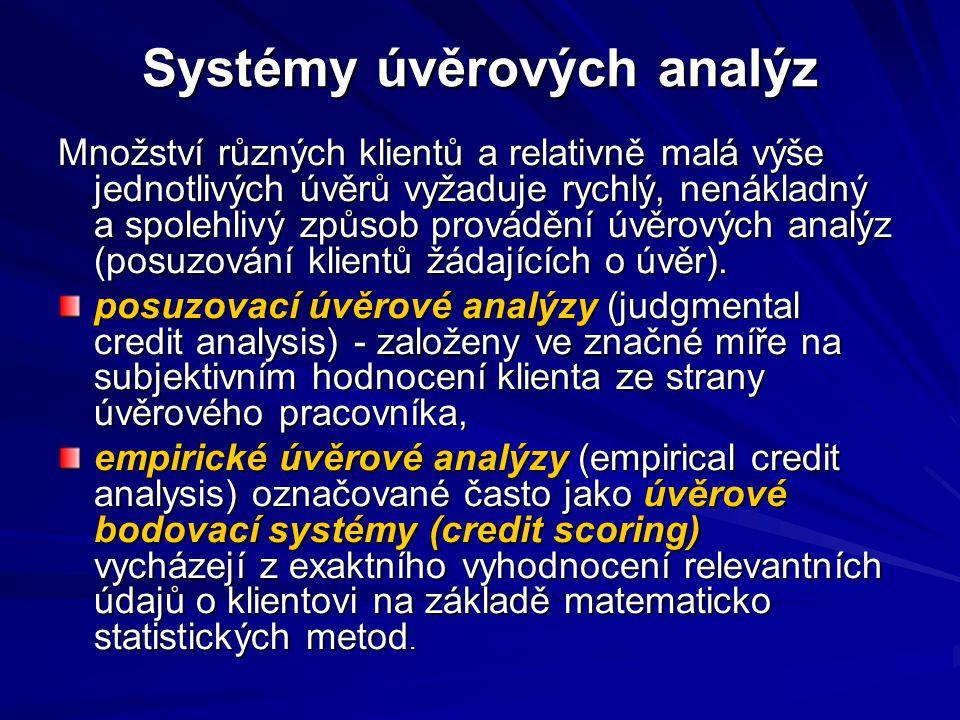 Systémy úvěrových analýz