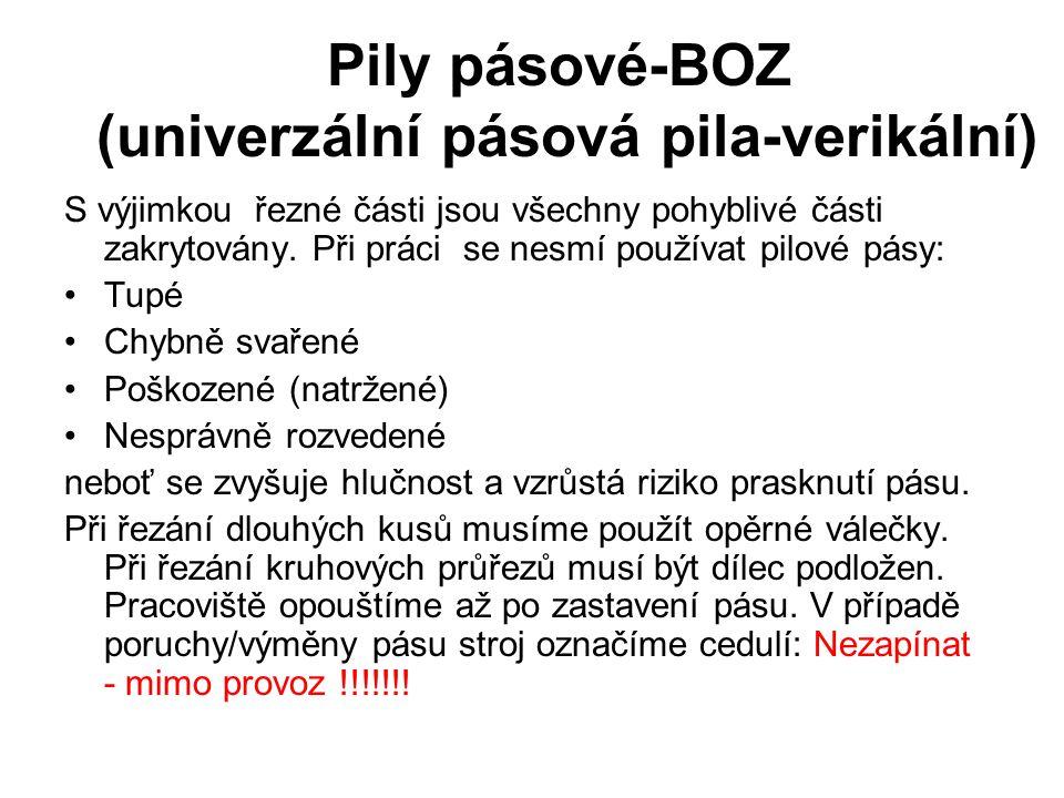 Pily pásové-BOZ (univerzální pásová pila-verikální)