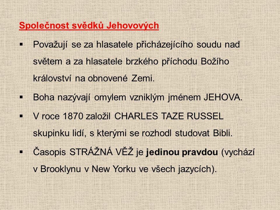 Společnost svědků Jehovových