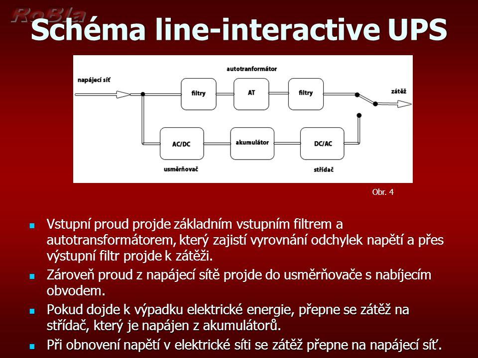 Schéma line-interactive UPS
