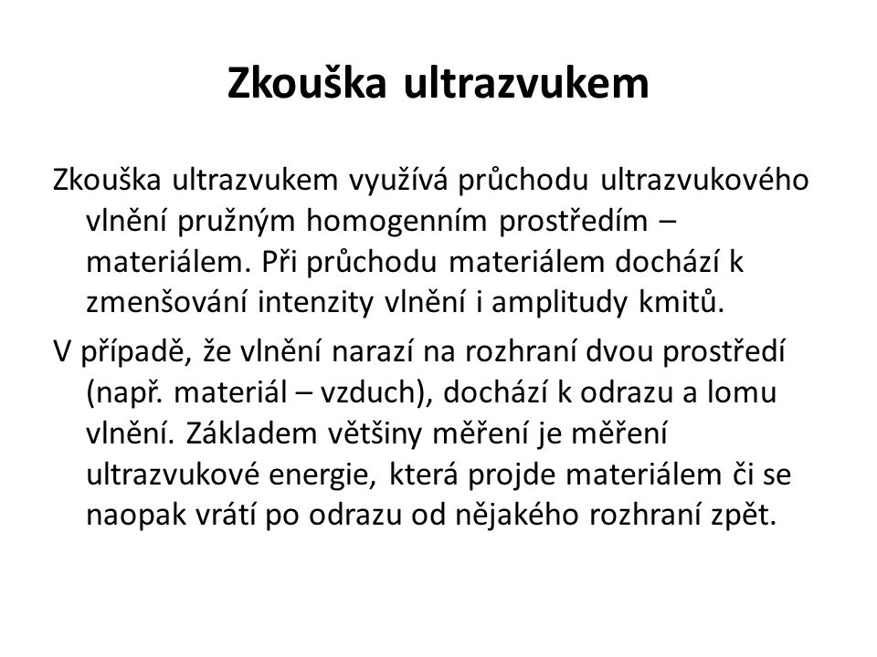 Zkouška ultrazvukem