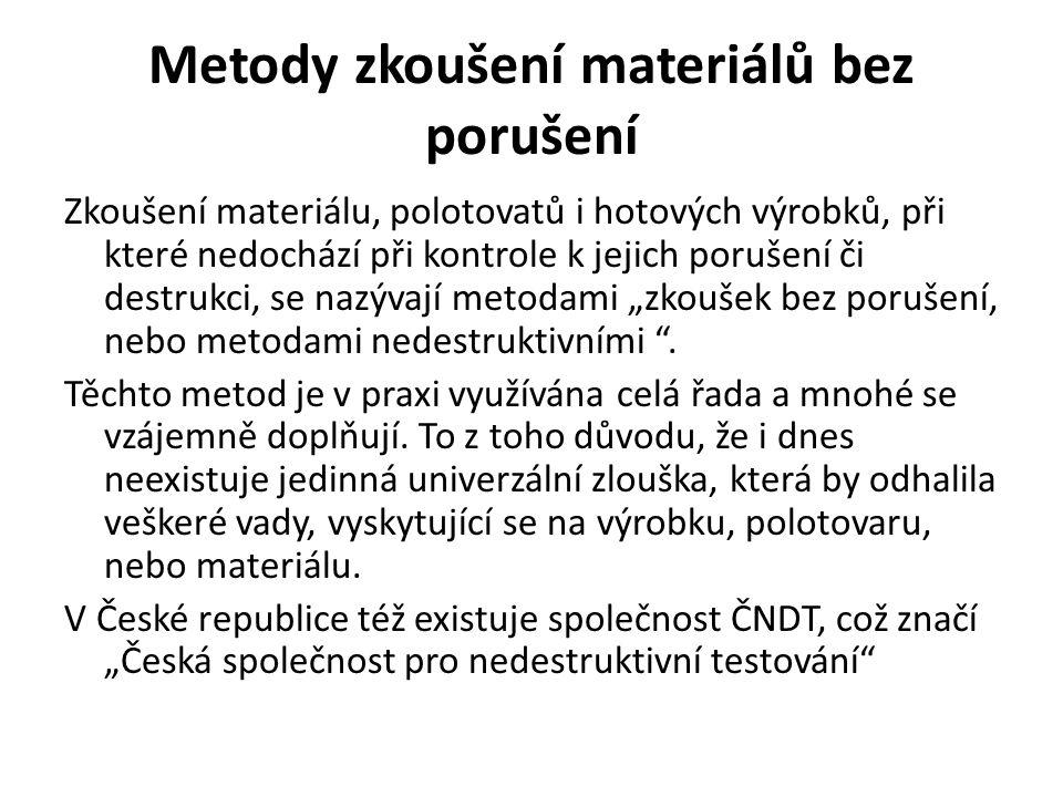 Metody zkoušení materiálů bez porušení