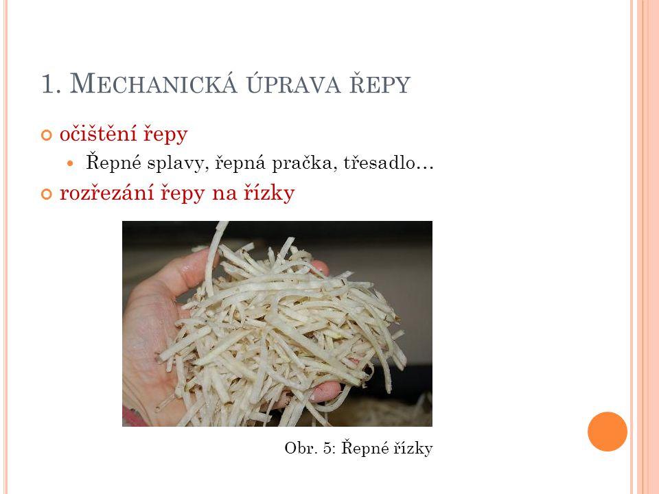 1. Mechanická úprava řepy