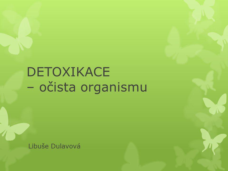 DETOXIKACE – očista organismu