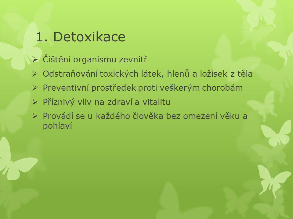 1. Detoxikace Čištění organismu zevnitř