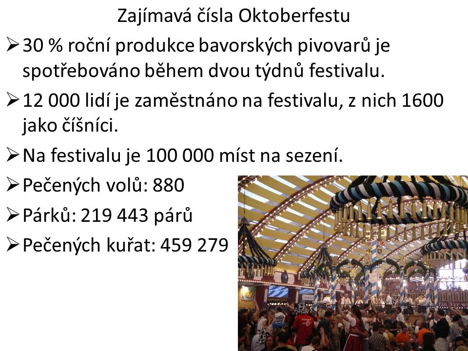 Zajímavá čísla Oktoberfestu