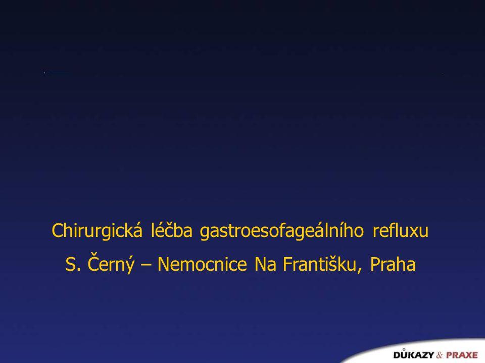 Chirurgická léčba gastroesofageálního refluxu