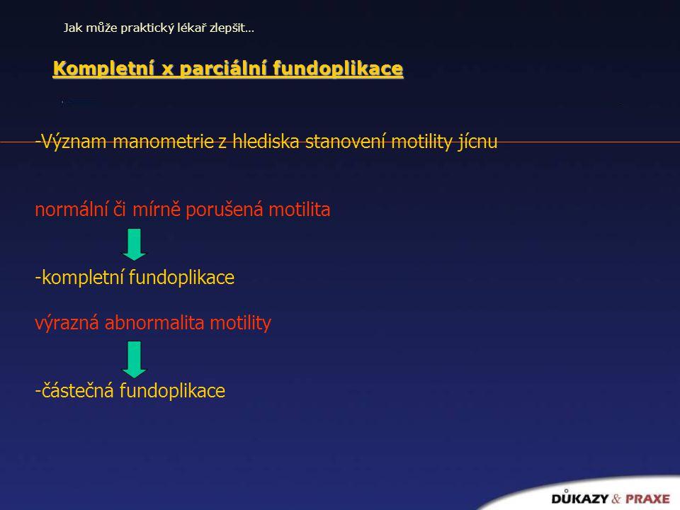 Kompletní x parciální fundoplikace