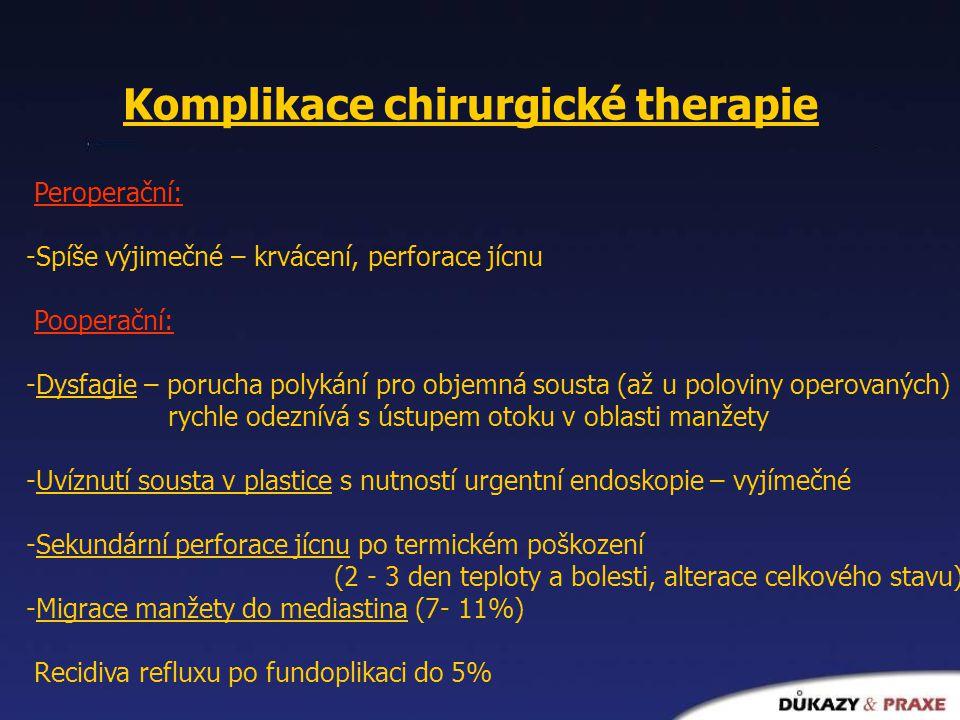 Komplikace chirurgické therapie