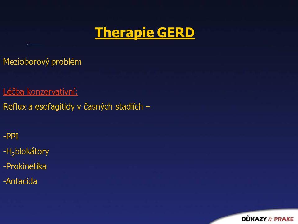Therapie GERD Mezioborový problém Léčba konzervativní: