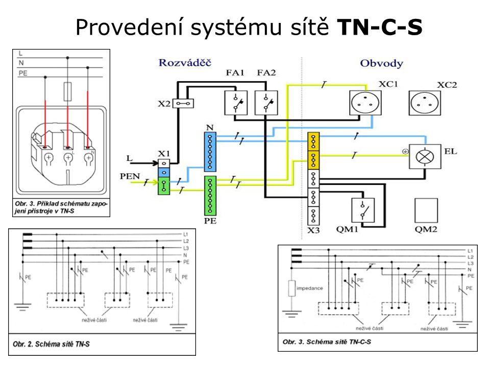 Provedení systému sítě TN-C-S