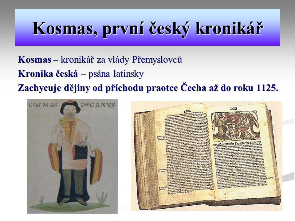 Kosmas, první český kronikář