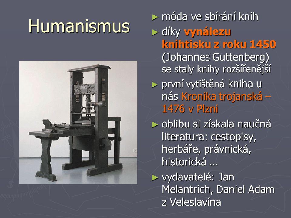 Humanismus móda ve sbírání knih